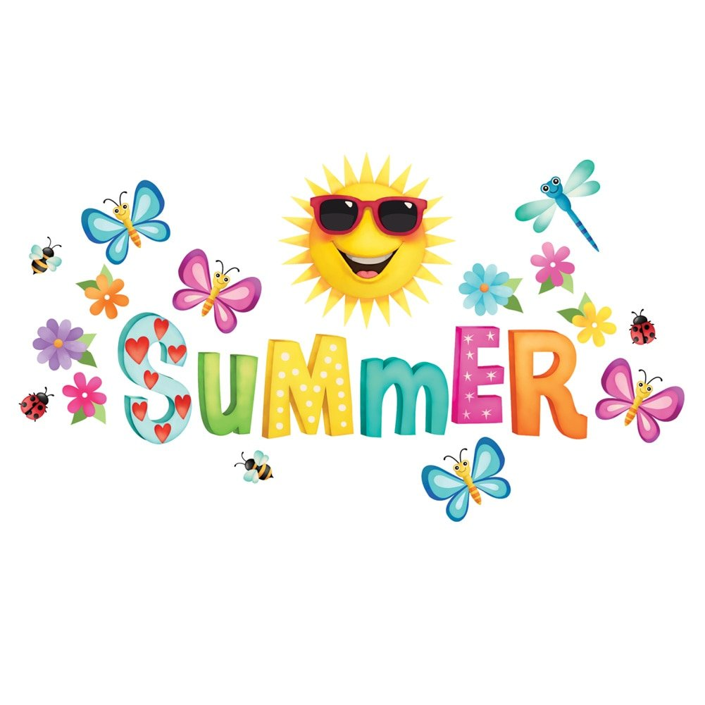 Collections Etc Summer Time Garage Magnets with Butterflies, Flowers, Bees and Ladybugs