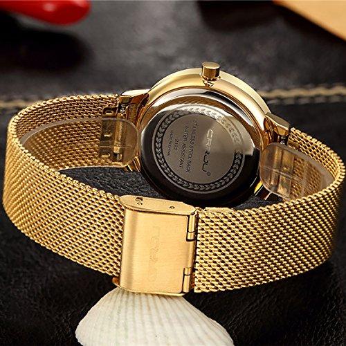 Reloj pulsera con mecanismo de cuarzo con un diseño femenino, pulsera en malla de acero, con piedras de imitación diamante, resistente al agua, reloj elegante de la marca Modiwen