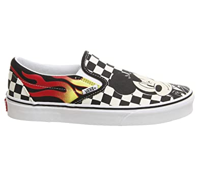 eaa10dcc4f Vans Classic Slip On Mickey and Minnie Checker Flame Disney - 6 UK ...
