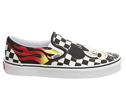 Vans Classic Slip on Unisex per Adulti, Multicolore (Mickey And Minnie Checker Flame Disney), 43