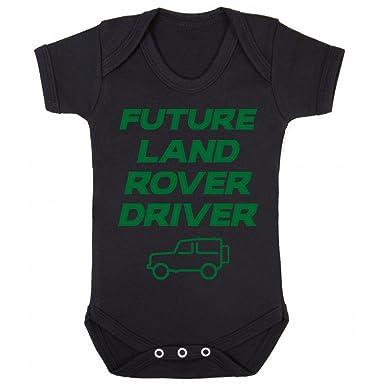 InfiniteTee Future Land Rover Driver Baby Grow Vest - Car 4X4 Christmas Newborn Gift Boys Black: Amazon.co.uk: Clothing