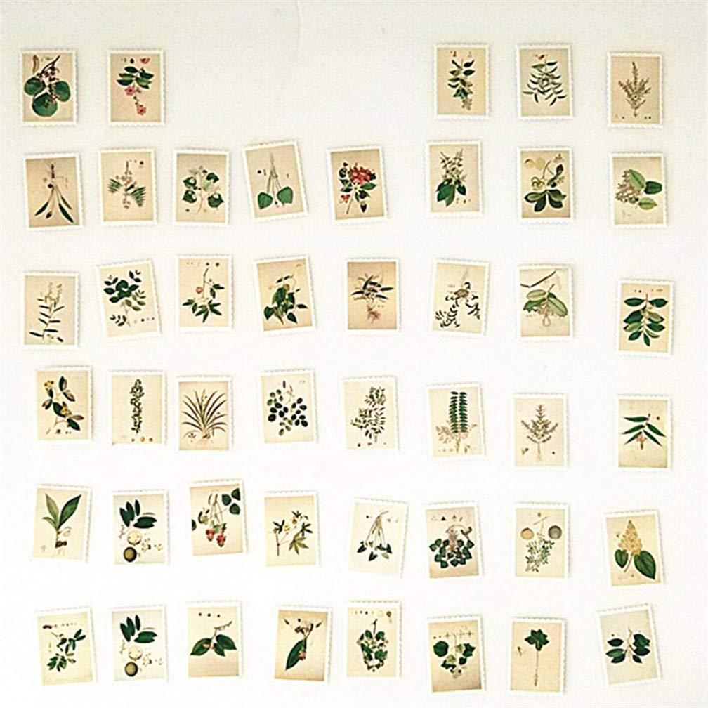 Xeminor Premium Quality Plants Stamp Paper Sticker DIY Diary Decoration Album Scrapbooking