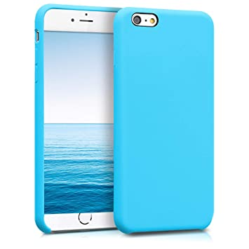 kwmobile Funda compatible con Apple iPhone 6 Plus / 6S Plus - Carcasa de TPU para móvil - Cover trasero en azul claro
