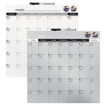Amazon Com Quartet Magnetic Dry Erase Calendar Tile 14 X 14