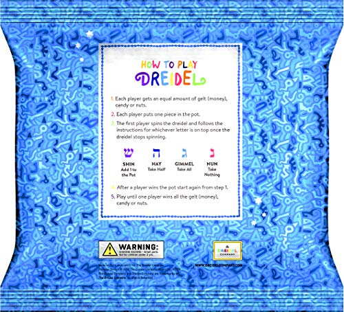 Hanukkah Dreidel Extra Large Blue & White Wooden Dreidels Hand Painted - Includes Game Instruction Cards! (10-Pack XL Dreidels) (10-Pack) by The Dreidel Company (Image #3)