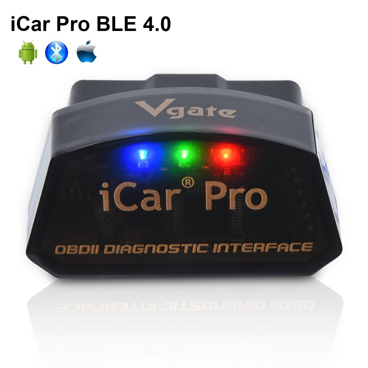 Vgate iCar Pro BLE 4 0 OBD2 Diagnostic Tool Fault Code Reader OBDII ELM327  Compatible Car Adapter Check Engine Light for iOS iPhone iPad/Android