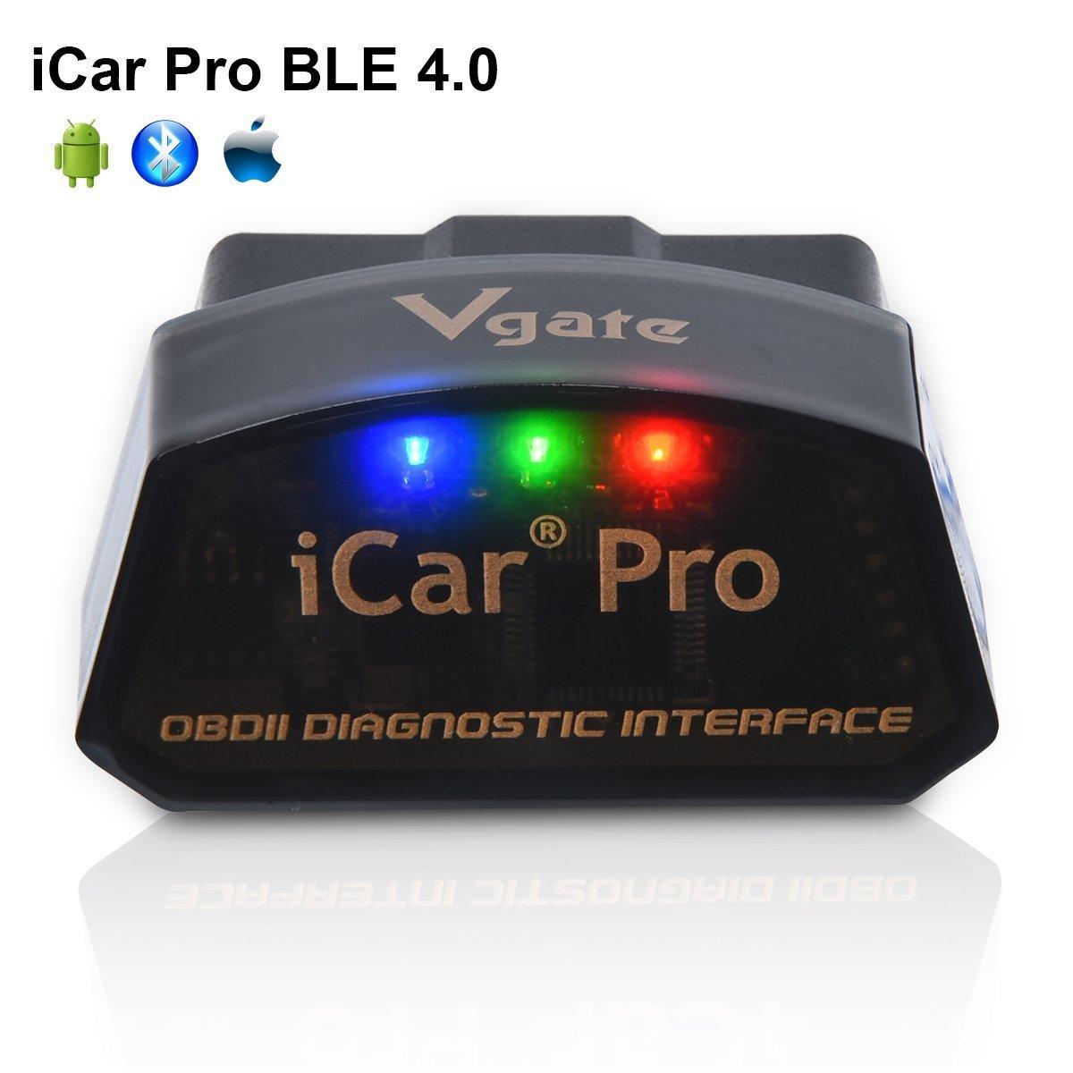 Vgate iCar Pro Bluetooth 4.0 (BLE) OBD2, Scanner diagnostico per auto con Bluetooth 4.0 per iOS e Android