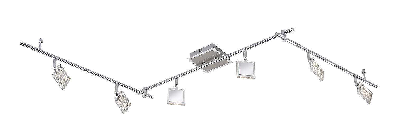 191 x 18 cm P.Neuhaus Deckenleuchte 6 x 4 W LED chrom//nickel 6966-17