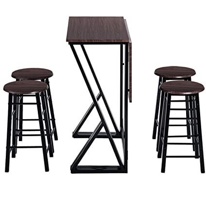 Amazoncom 5 Pieces Bar Table Set Counter Height Dining Table