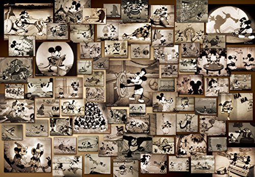 Tenyo Mickey Mouse Monochrome Black and White Film Movie Jigsaw Puzzle (1000 Piece)