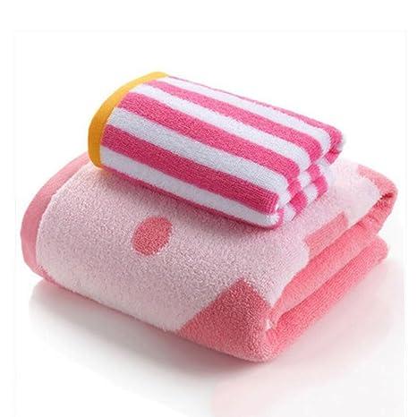 Wddwarmhome Toallas de baño de color rosa Toallas de algodón absorbente Toallas de baño de hombres