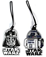 2 Pack Star Wars Luggage Suitcase Tags R2D2 Darth Vader PVC
