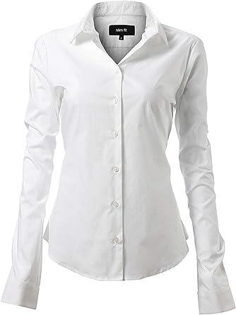 INFLATION Camisa de Vestir Elástica Mujer, diseño clásico Trabajo/Reunion/Ceremonia/Boda/Fiesta/Ocasiones Formales/Casuales: Amazon.es: Ropa y accesorios