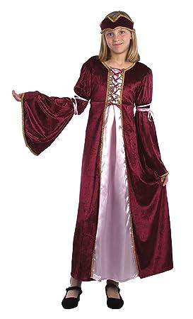 Bristol Novelty CC544 Traje Princesa del Renacimiento, Mediano, Edad aprox 5 - 7 años