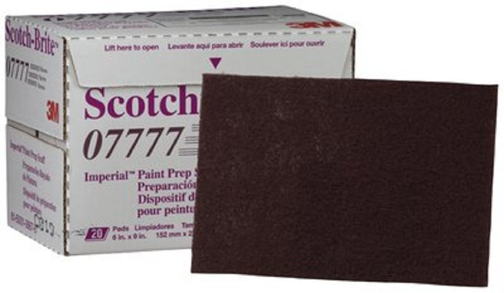 Scotch-Brite(TM) Paint Prep Scuff Hand Pad 07777 Maroon, Silicon Carbide, 9'' Length x 6'' Width  (Pack of 60)