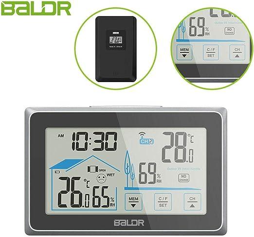 BALDR Reloj despertador digital con proyección de tiempo regulable ...