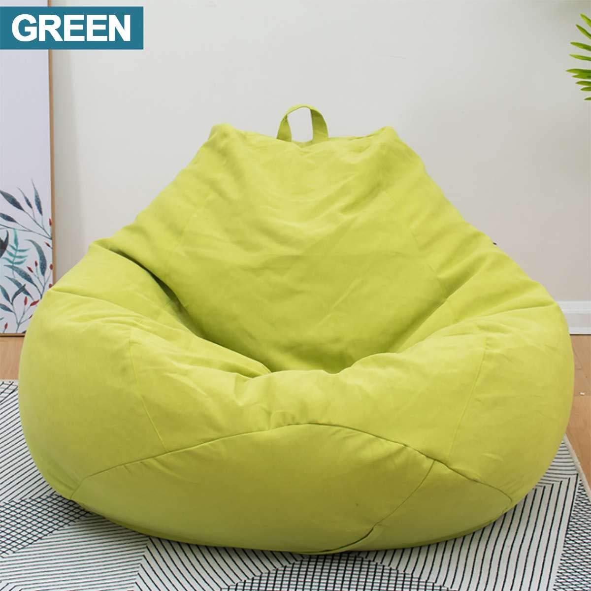 Remarkable Amazon Com Lazy Beanbag Sofas Cotton Linen Cloth Lounger Inzonedesignstudio Interior Chair Design Inzonedesignstudiocom