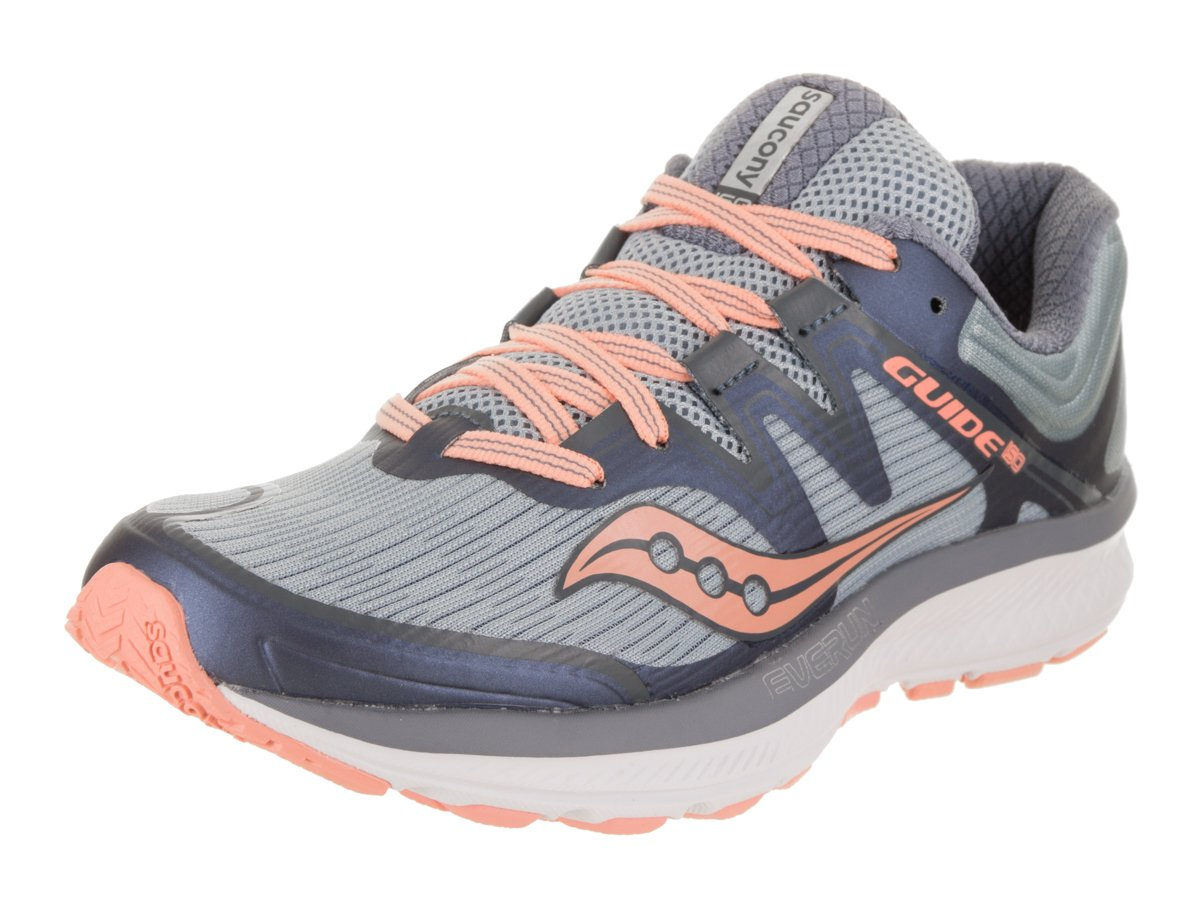 Saucony Women's Guide Iso Running Shoe B078PP3JQH 8.5 B(M) US|Slate/Peach