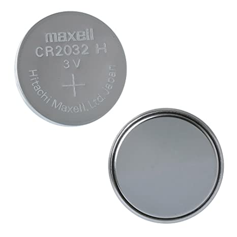 e5c5ce98a Maxell CR2032 3 V batería de litio pilas de botón moneda, Plateado, Pack de