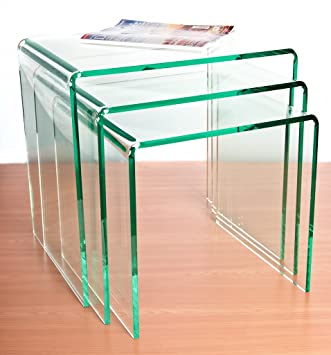 Wrights Plastics GPX Silicon (Glass Effect) Acrylic Nest Tables