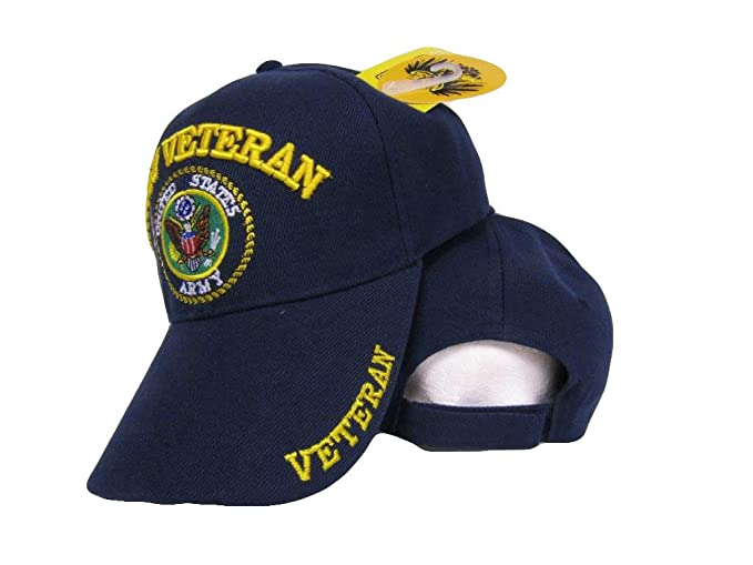 2e24004a0 Set of Two (2) U.S. US Army Veteran Shadow Embroidered Navy Blue ...