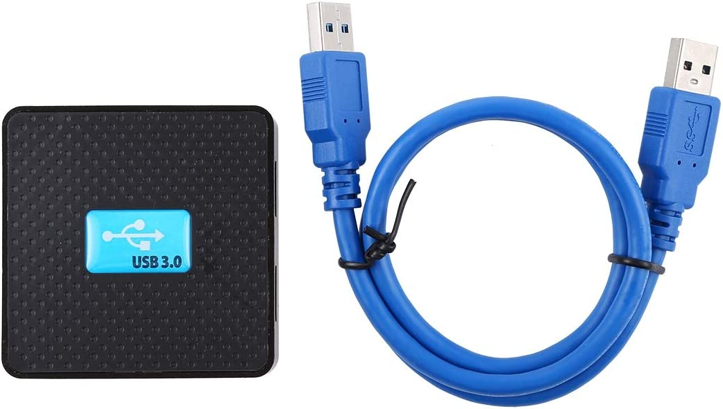 5Gbps Super Speed DUDETAO 4 Ports USB 3.0 HUB with 80cm USB Cable Plug and Play Black Color : Black