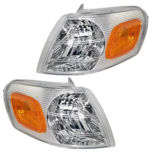 (Driver and Passenger Park Signal Side Marker Lights Lamps Replacement for Chevrolet Oldsmobile Pontiac Van 15130499 15130498 AutoAndArt)