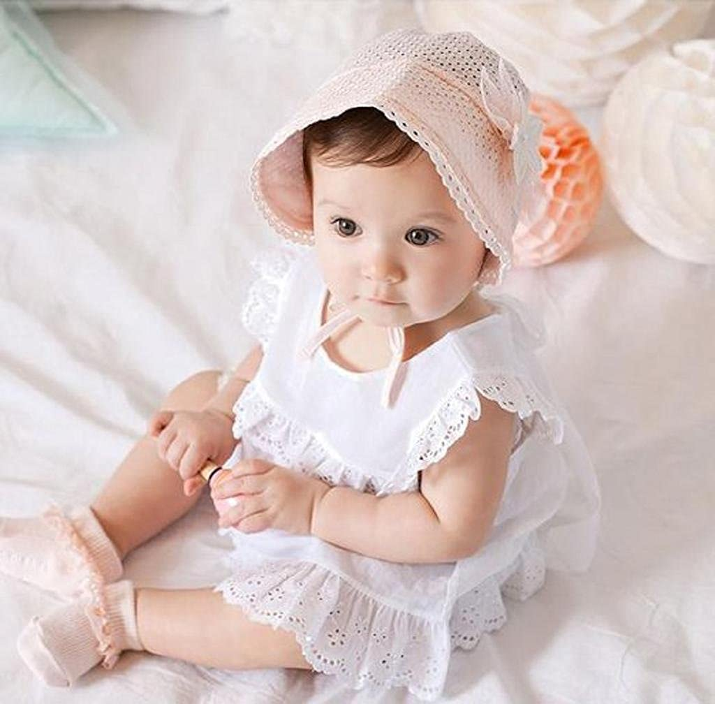 25e742aa4a1 Amazon.com  AMA(TM) Newborn Baby Girls Cotton Royal Beret Beanie Hat Cap  Sunbonnet (Blue)  Clothing