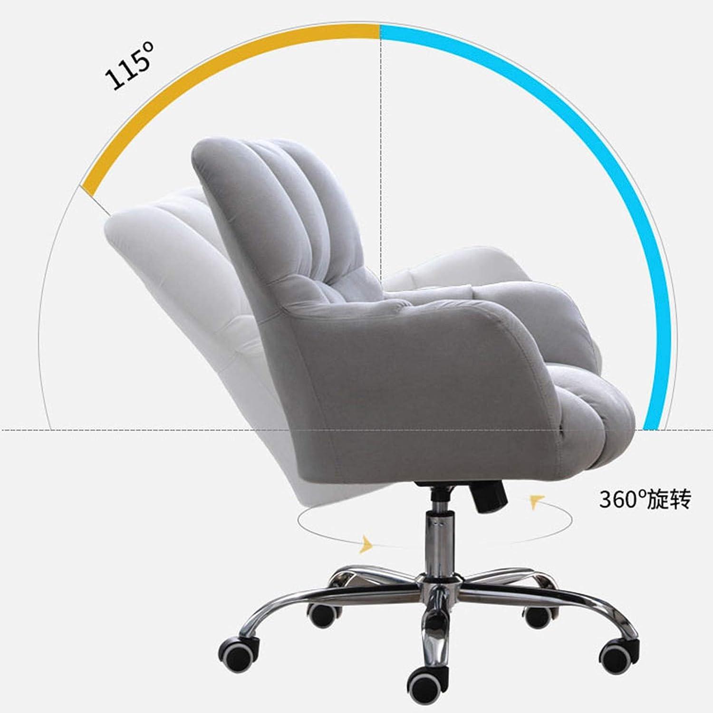 360° svängbar datorstol, hemmakontor stol ergonomisk, mellanrygg justerbar skrivbordsstol för hemmakontor vardagsrum, korsryggsstöd Mörkblått