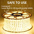 GuoTonG 110V LED Strip Lights Waterproof