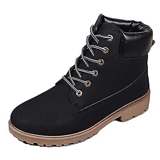 Women's Casual Lace Up Boots High-top Outdoor Walk Shoes