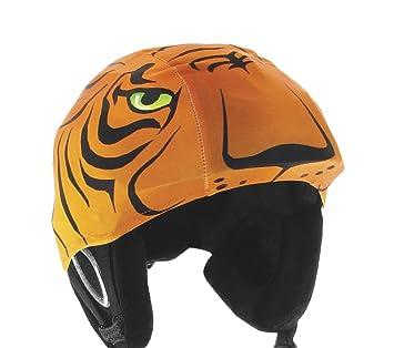 Red Hot Al rojo vivo casco de esquí para Tiger Lycra Covering, 3177