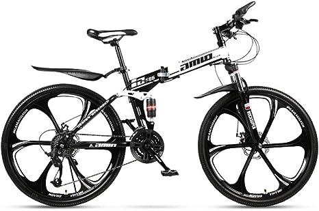 Adulto Bicicleta de montaña, Doble suspensión Plegable Ciudad de ...