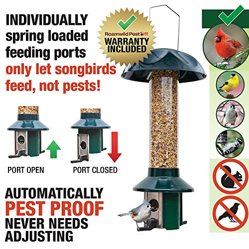 Roamwild-PestOff-Squirrel-Proof-Bird-Feeder-Mixed-Seed-Sunflower-Heart-Version