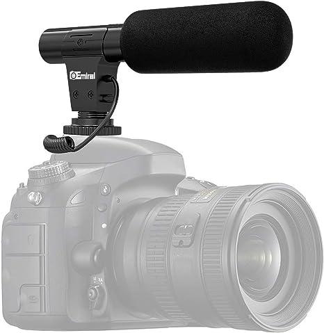 Micrófono de vídeo, Micrófono de cámara Emiral, Micrófono de ...