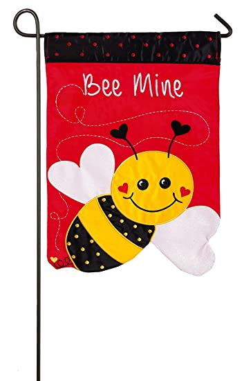 Amazoncom Evergreen Bee Mine Applique Garden Flag 125 x 18