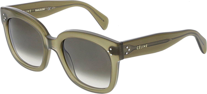 91277ba29071 Celine 41805 S QP4 Olive Green 41805S Square Sunglasses Lens Category 3 Size  54  Amazon.co.uk  Clothing
