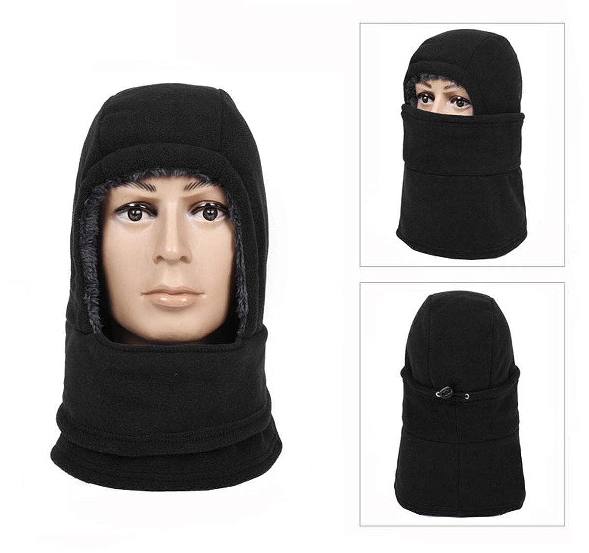 Letusport Womens Thick Hooded Face Mask Fleece Balaclava Neck Warmer Gaiter Headgear