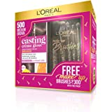 L'Oreal Paris Casting Crème Gloss Hair Color with With Free Makeup Brushes