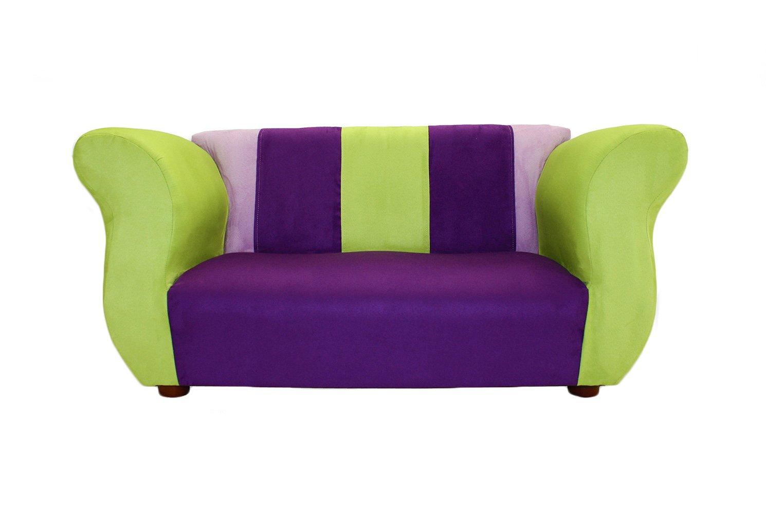 KEET Fancy Kid's Sofa, Purple/Green