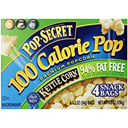 Pop-Secret 94% Fat Free Kettle Popcorn, 1.2 Ounce Bags, 4-Count