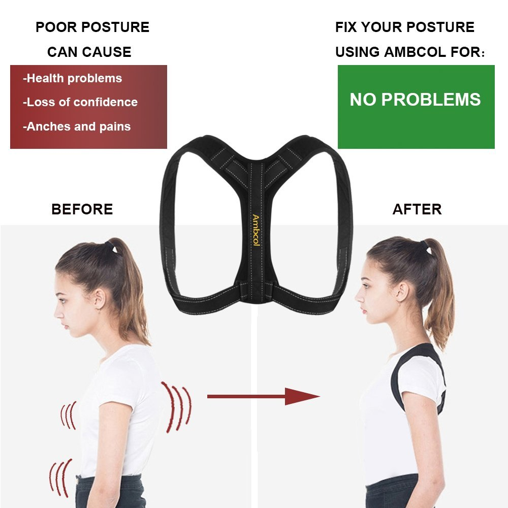Ambcol Back Posture Corrector for Women and Men, Trains Your Back Muscles to Prevent slouching and Provides Back Pain Relief by Ambcol (Image #7)