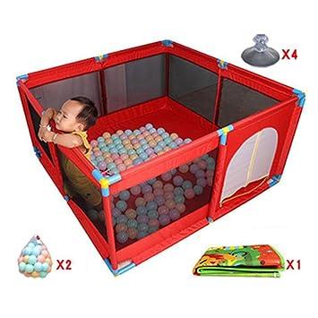 392a240632fab Parc bebe Parc pour Bébé avec Balles Et Tapis Tapis De Sol Intérieur  Intérieur Pliable
