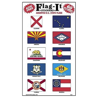 Assorted State Flag Stickers 1 in x 1-1/2 in Vinyl: Garden & Outdoor
