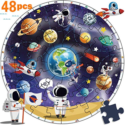 - iPlay, iLearn Wooden Solar System Jigsaw Puzzles, Circular Floor Puzzle, Planets Learning Toy, Large Space Ships. Educational Children Gifts for 2 3 4 5 6 7 Year Olds Kids, Boys, Girls, Toddlers