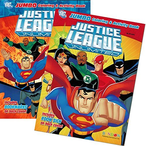 DC Comics® Justice League Coloring And Activity Book Set (Two 96 -page Books) Batman, Superman, Wonder Woman, Green Lantern, The Flash, Aquaman, and Cyborg -