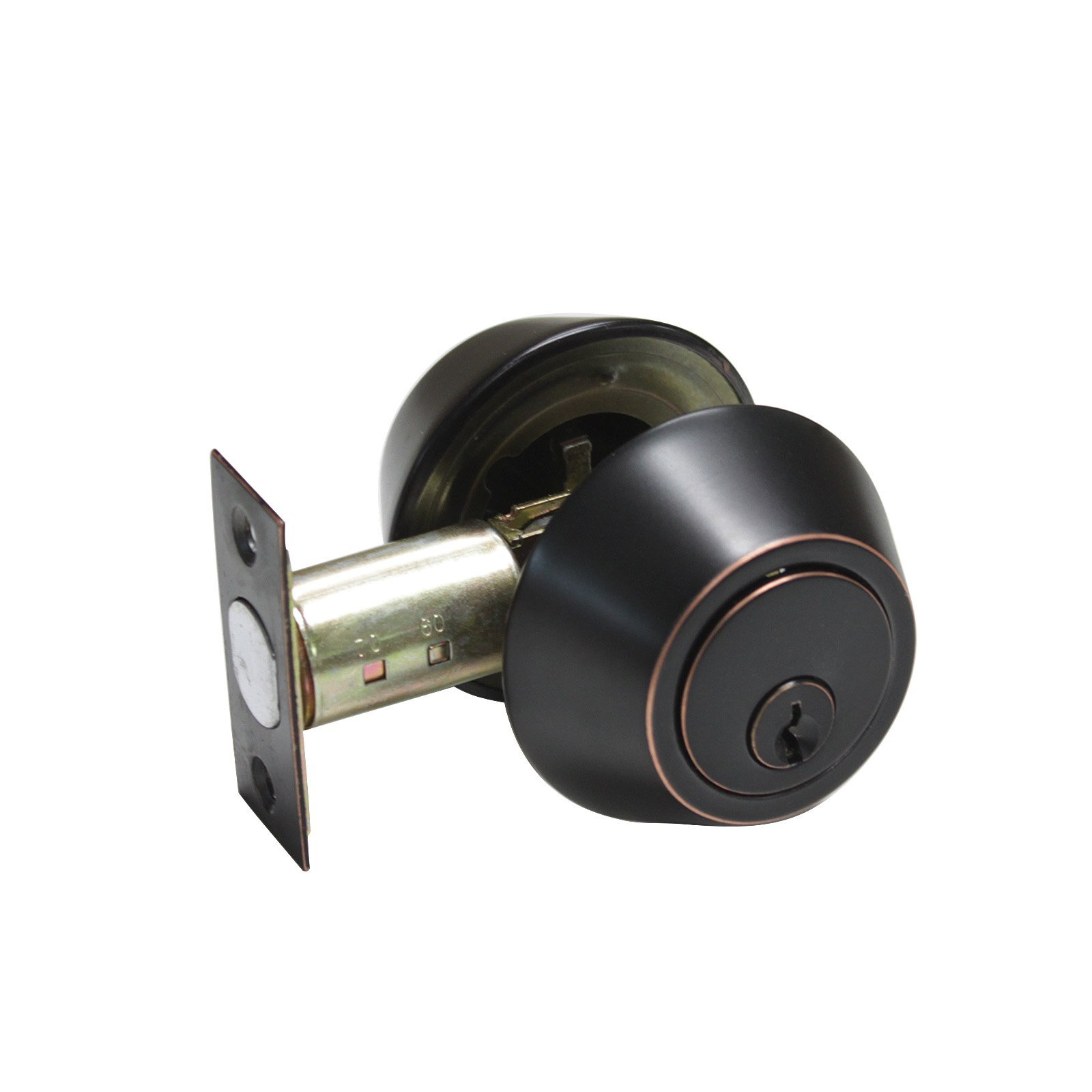 Gobrico Double Cylinder Deadbolt Keyed on Both Sides Home Door Locking Security Round Knob Lock Oil Rubbed Bronze 5Pack