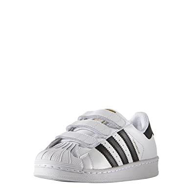 brand new eb313 9a647 adidas Superstar Foundation CF C (2.5 Little Kid M) White Black