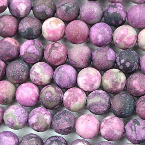 Fashiontrenda Natural 8mm Dyed Purple Jade Unpolished Round Gemstones Loose Beads Findings DIY Jewerlry Making
