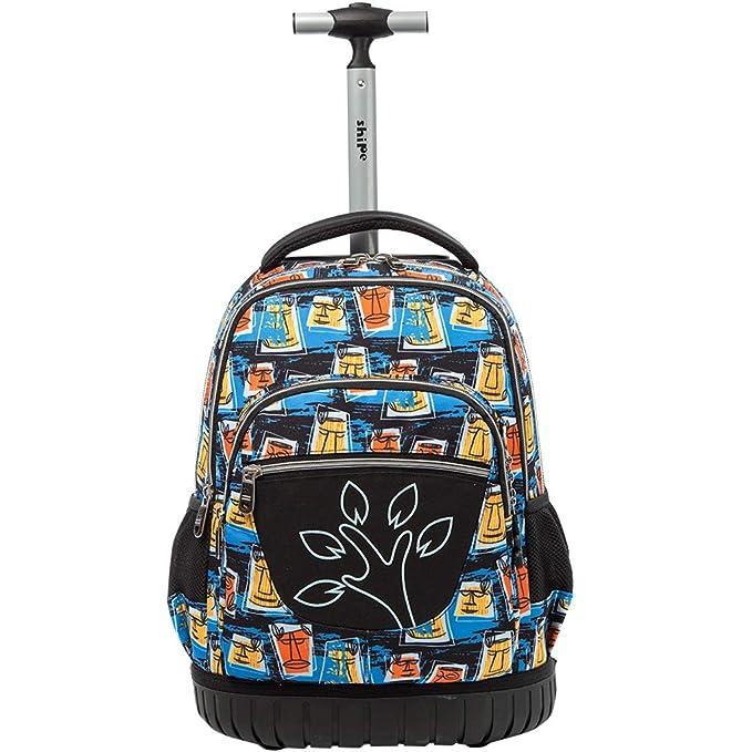 781a25c4e9 Boys Girls Rolling School Backpacks - Kids Print Pattern Trolley Schoolbag  2 wheeled Waterproof Primary Child